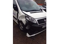 FIAT SCUDO TAXI, ACCIDENT DAMAGE 2008 MODEL VERY GOOD CONDITION SEATS. BREAKERS