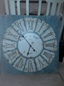 Shabby Chic Large Clock