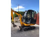 Jcb 8018 mini digger excavator 2013 kubota takeuchi case