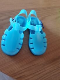 Size 6 next blue jelly shoes