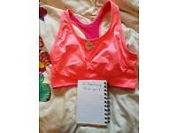 Ladies reversible sport bra