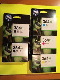 HP 364XL Original Ink Cartridges - Yellow/Magenta/Cyan/Black. Boxed, unopened - as new.