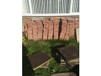 Mono block bricks red colour used