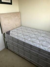 Single 3 in 1 Guest Bed with Deep Quilted Mattress NEW