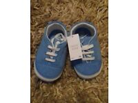 Brand new Next baby pram shoes - blue size 3