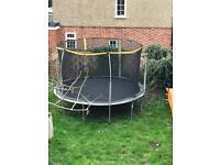 12 ft trampoline, 2 slides