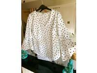 Ladies polka dot blouse