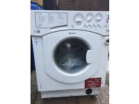 Hotpoint Washmachine integrated about 2 years old like new