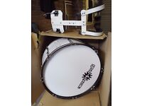 """Bass Drum with Harness 24"""" diameter 15"""" width as new still in box"""