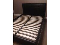 Kingsize Brown Faux Leather Bed frame (John Lewis)