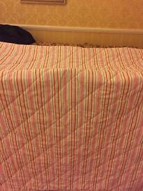 Double bedding set and throw and curtains