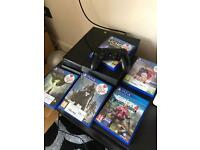 PS4 500gb, controller, 5 games