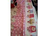 Pink cupcake curtains from Next