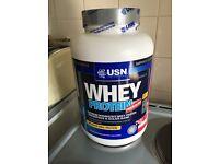 New sealed USN whey protein premium strawberry cream 2.28kg new