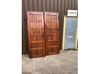 Pitch pine gothic and trad style Church doors 2 double door setts.