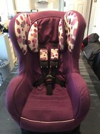 Purple car seat