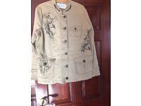 A ladies khaki jacket & jacket & Trouser suit (Vintage)