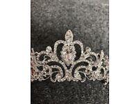 Diamante crystal tiara headpiece