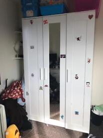 White Ikea Wardrobe, need gone ASAP!