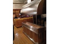 BBQ MANGAL STAINLESS STEEL COMMERCIAL KITCHEN CANOPY WALL SHEET CARBON FILTER SILENCER CAFE SHOP