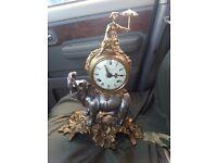 Brevettato Brass Elephant clock