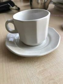 5 x Dudson Armolite Expresso Cups & Saucers