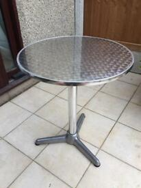 Cafe Table - Steel and Aluminium