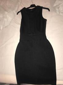 River island black dress size 8 good condition