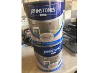 2 tins of johnstons paint