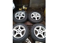 VW alloy wheels 14 Inch with Tyres in West London Area