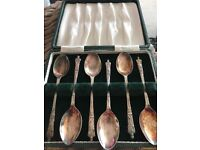 Coffee spoons x 6 (silver plated vintage)