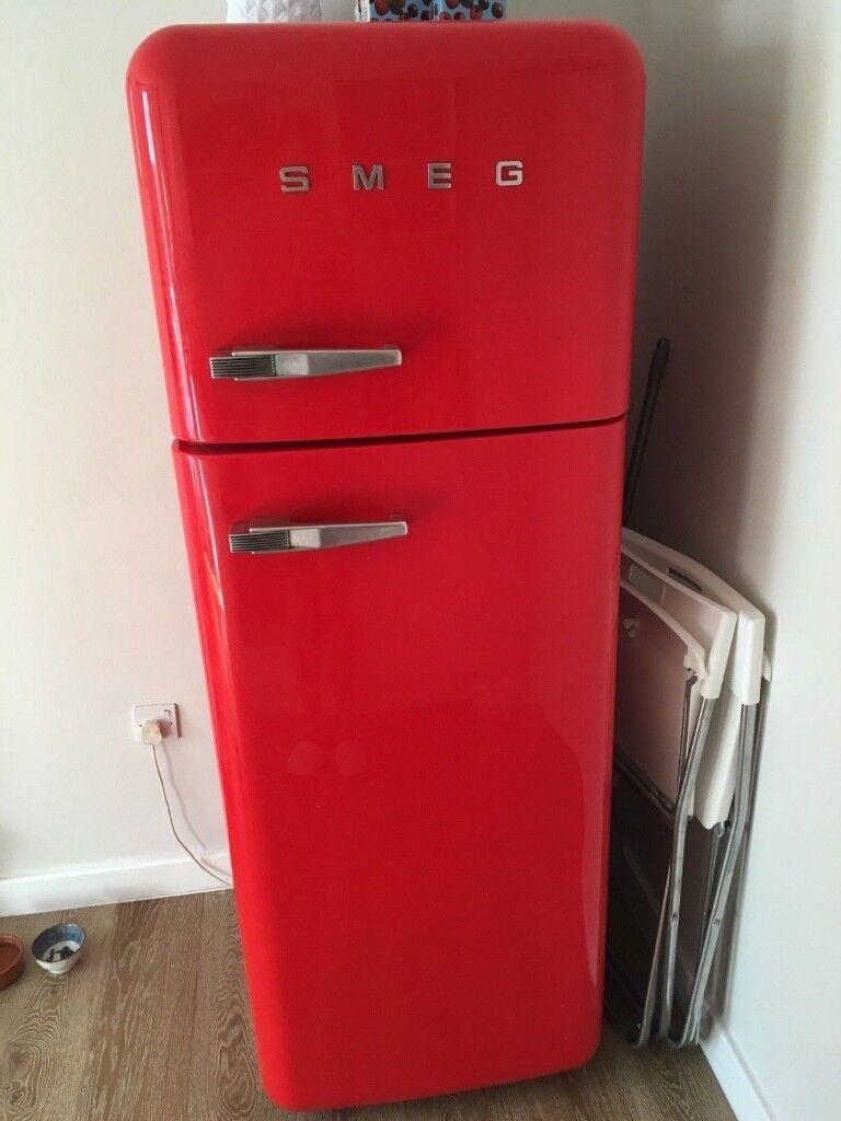 Bright Red Smeg Fridge Freezer Model S30strp