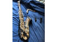 Beautiful Hanson ST8 Silver Plated Tenor Saxophone for Sale, Good Condition!
