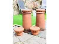 2 Chimney Pots ( No Vents)