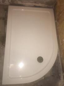 New off set quadrant shower tray