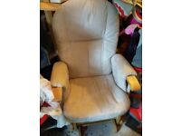 Reclining gliding chair and foot stool - Tutti Bambini