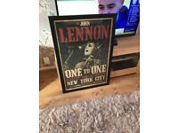 Large framed John Lennon Picture