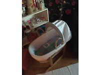 Baby boy Moses basket used once