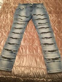 Designer jeans size 12-14 new