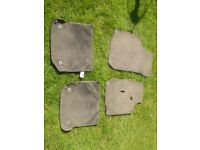 Vw Golf 4, 2002, Car mats, front and rear. Wear to drivers mat. £3