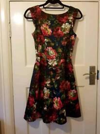Floral Skater Dress (size 8)