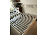 IKEA Super King Size White / Cream Bed Frame Good Condition