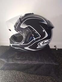 Arai and HJC helmets