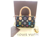 100% Genuine Louis Vuitton HL Mini Sac Mulitcolor Speedy Handbag