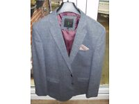BLUE TWEED JACKET JASPER CONRAN 44 CHEST