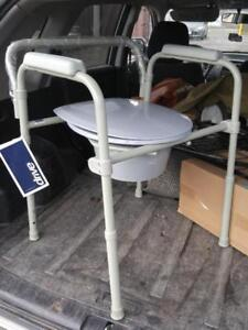 BRAND NEW with tags: Geriatric commode OVER TOILET Drive Medical Sturdy Rubber Feet