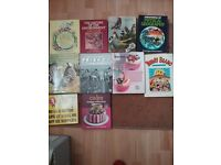 Selection of baking books, nature books and others