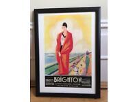 Framed Brighton Old-Time Tourism Print