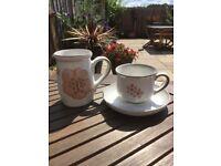 Retro high quality Denby tea set and matching jug