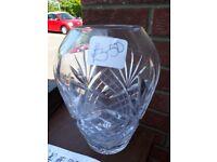 Vase - cut glass.